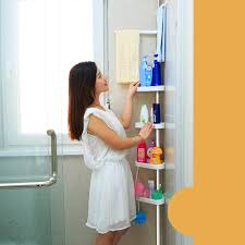 Nur 2516 Ikayaa Höhenverstellbare Metall Badezimmer Eckdusche