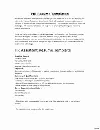 Sample Resume For Administrative Assistant Human Resources Best Of