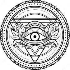 чёрная тату глаз провиденс векторное изображение Shik Shik