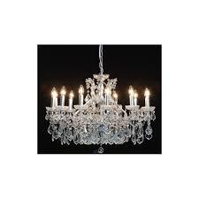 12 branch shallow chandelier silver