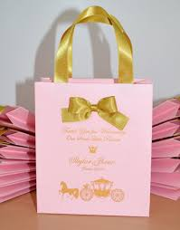 Light Pink Gift Bags 25 Elegant Baby Birthday Party Gift Bags With Satin Ribbon