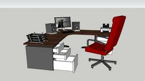 Office table with drawers Student Study Office Desk With Drawers fully Furnished Officedeskcom Office Desk With Drawers fully Furnished 3d Warehouse