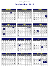 Calendar Format 2015 South Africa 2015 Printable Holiday Calendar Printable Hub