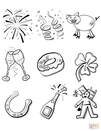Small Picture New Years Eve coloring page Free Printable Coloring Pages