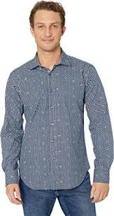 Bugatchi Mens Long Sleeve Shaped Fit Button Up Shirt At
