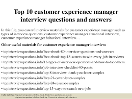 customer experience manager top 10 customer experience manager interview questions and answers 1 638 jpg cb 1428412605
