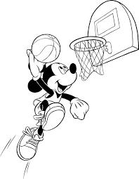 Coloriage Mickey Basket Le Journal De Mickey