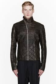 rick owens 50 000 leather jacket alligator menswear lookbook 1