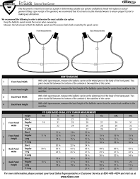Paca Body Armor Size Chart Sizing Charts Body Armor Outlet