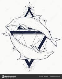 татуировки дельфинов двух дельфинов татуировка символы любви