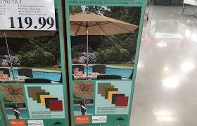 proshade ft auto tilt aluminum patio umbrella costco weekender umbrellas