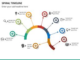 Timeline Powerpoint Slide Spiral Timeline