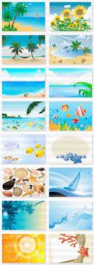 夏に使える素材2絵はがきイラストレーター素材aieps商用可能