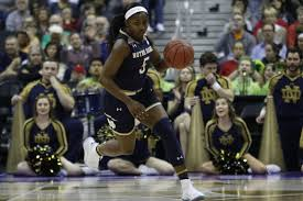 jackie young scored a career high 32 points on 67 shooting in notre dame s final four victory over uconn photo credit ian bethune