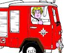 Раскраски игры пожарные