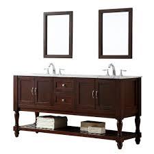 direct vanity sink mission turnleg 70 in double vanity in dark brown with marble vanity