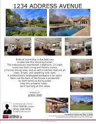 listing flyers sacramento real estate photographers flyer template 1