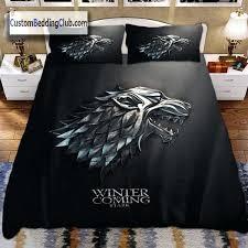 bed duvet covers game of thrones bed set blanket duvet cover winter is coming custom bedding