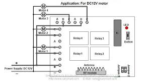 wireless remote control 4 dc 12v motors in 2000m 6000ft circuit diagram