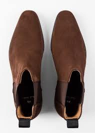 men s dark brown suede gerald chelsea boots by
