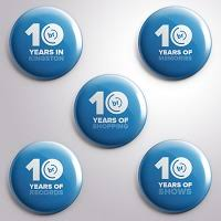 Pin Badge Set - 10 Years Of Banquet Records ... - Banquet Records
