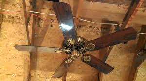 hunter second century original ceiling fan model 23900 in antique brass