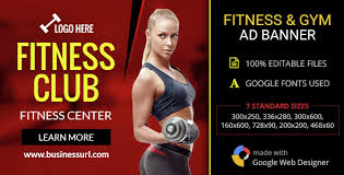 gwd fitness club gym html5 banners 07 sizes codecanyon item