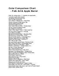 48 Abundant Americana Acrylic Paint Conversion Chart