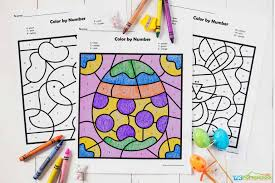 Click on an image below. Free Easter Color By Number Worksheets