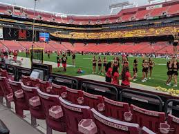 Fedex Field Club Level Seating Chart Fedexfield Section 39 Rateyourseats Com