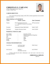 7 Example Of Simple Applicant Resume Inta Cf