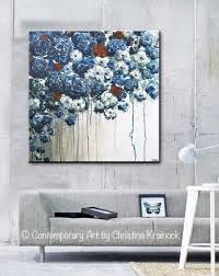 Modern Bedroom Wall Art Inspiration Lovely Navy Wall Decor O R I G N A L Art Abstract Blue Flower