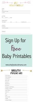 17 best ideas about babysitter checklist to sign up for two printables a daily activity checklist and a babysitter contact list