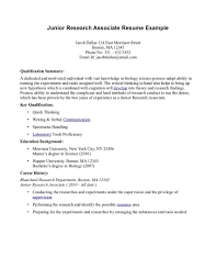 science research resume sample  vosvetenet