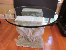 glass table base ideas incredible old stone and pedestal decorating 5