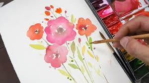 Easy Painting Watercolor Painting For Beginners Simple And Easy Youtube