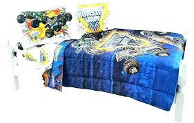 monster jam bedding set truck full size toddler