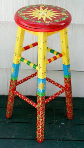 Whimzical Hand Painted Bench  Hand Painted Chairs Hand Painted Hand Painted Benches