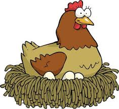 chicken laying eggs clipart. Cartoon Hen Incubates The Eggs Vector Illustration Stock 52987601 With Chicken Laying Clipart