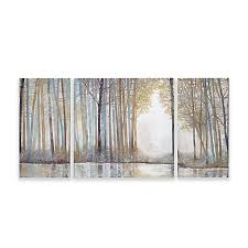>wall art canvas wall art modern wall art bed bath beyond madison park forest reflections gel coated canvas wall art set of 3