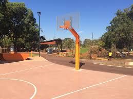 a half court basketball court