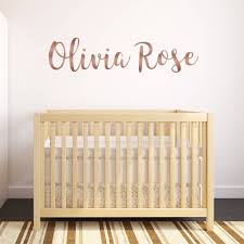 personalised rose gold wall stickers