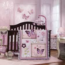 awesome ladybug crib bedding with crystal chandelier and sheer curtain