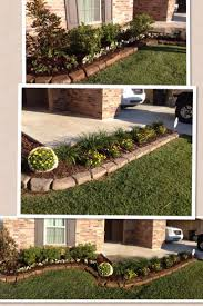 Simple front flower bed design