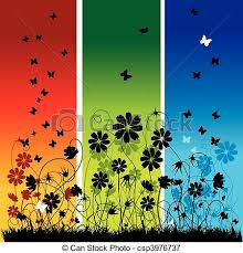 summer background abstract summer background flowers and butterflies vectors