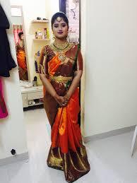 Designer Kanjeevaram Sarees Aishwarya In Heavy Polki Kundan Choker And Orange
