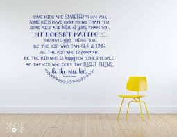 Wall Decal Quotes Extraordinary Be The Nice Kid Wall Decal Custom Home Decor Etsy
