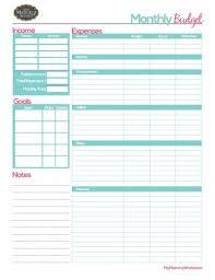 Free Printable Budget Free Printable Monthly Budget Form Budget Printables Free