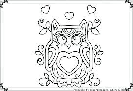 Cute Owl Coloring Page Interesting Pictures To Color Pages Of Owls