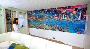 puzzle wall art the enormous puzzle life the great challenge covers an entire wall of